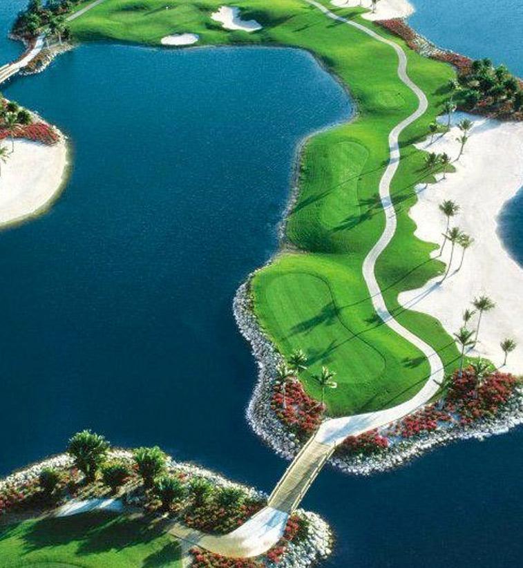 Golfing in Naples